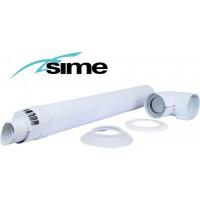 Коаксиальный горизонтальный комплект Ø60/100 мм Sime (Condensing)