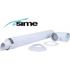 Горизонтальний комплект коаксіальний Ø60/100 мм Sime (Condensing)